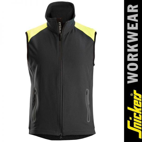 8029 Neonweste von SNICKERS Workwear-black-yellow