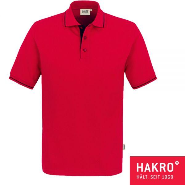 NO. 803 HAKRO POLOSHIRT CASUAL-002-rot