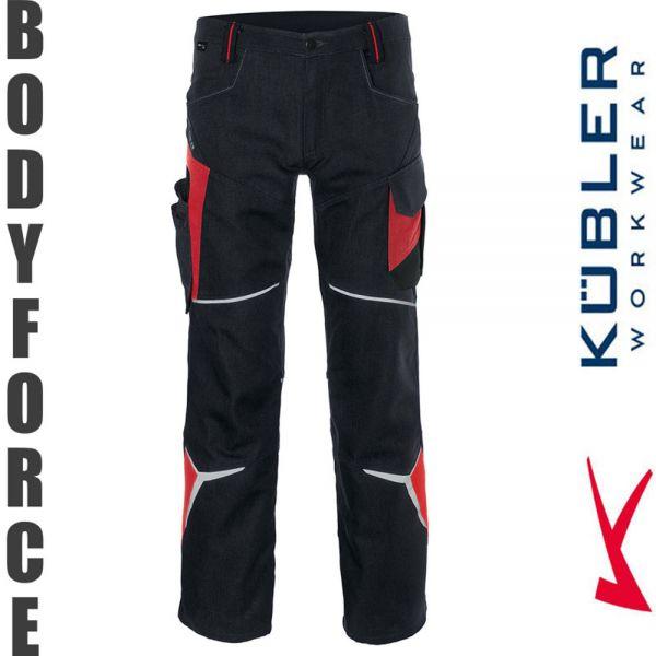 BODYFORCE Bundhose - Kübler Workwear-2225-schwarz-mittelrot