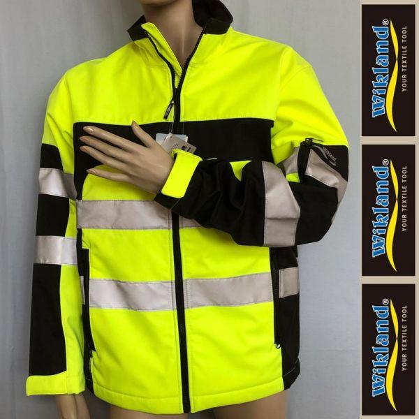 Warnschutz Softshelljacke WIKLAND -gelb-schwarz - 9611