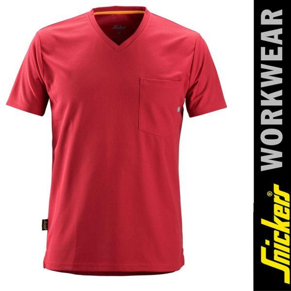 2524 Allround Work 37.5 kurzarm T-Shirt-SNICKERS WORKWEAR-chili red