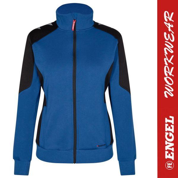 GALAXY Damen Sweatjacke - ENGEL Workwear - 8825-surferblue-schwarz