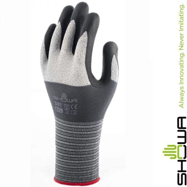 Showa-Nitrilschaum-Handschuh (381) für trockene Hände