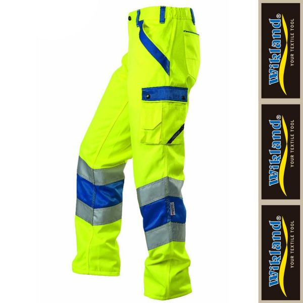Arbeitshose ISO 20471 Wikland - 1235-gelb-blau