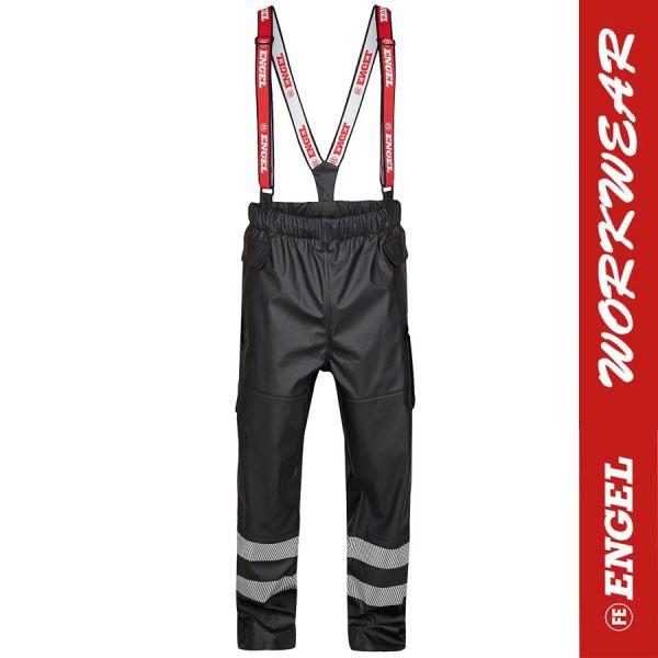 Regenhose mit Reflektstreifen, schwarz, von ENGEL Workwear-2918-262