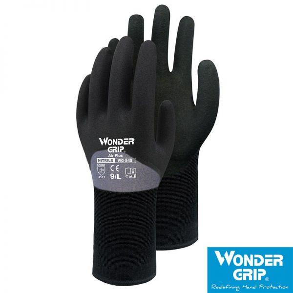 Wondergrip-Airplus-WG-545-atmungsaktiver Arbeitshandschuh-3/4-Beschichtung
