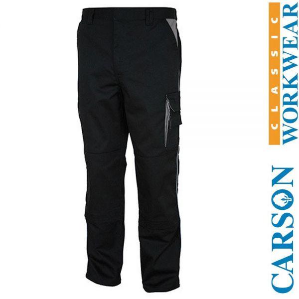 CARSON Contrast Bundhosen - schwarz-grau