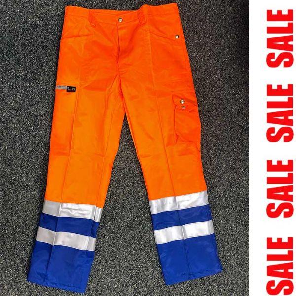 Sicherheits Bundhose - orange-blau - THOR