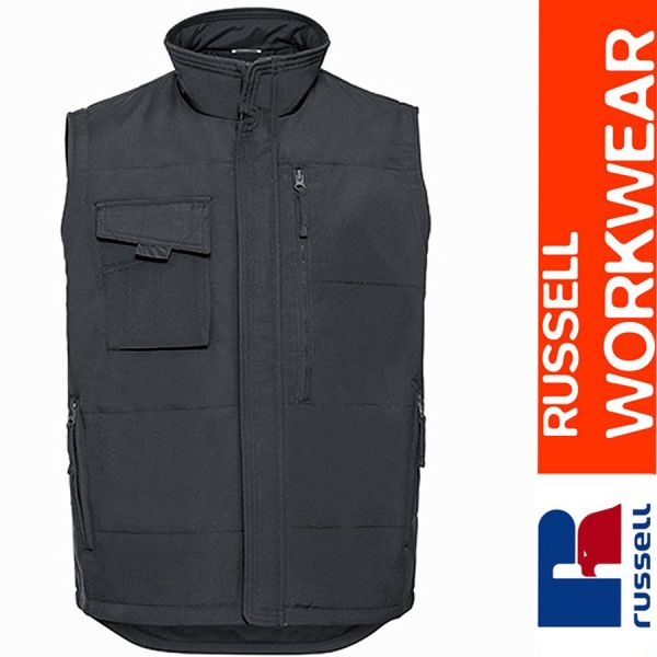 Heavy Duty Workwear Gilet, Russel - Z014-convoy grey