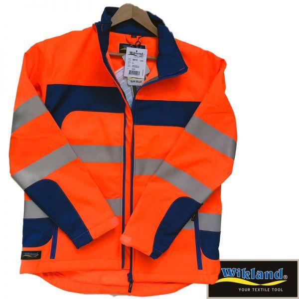 Warnschutz Softshelljacke WIKLAND - orange - blau - 9612-SALE